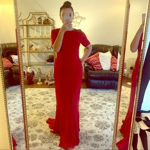 ASOS gown with a train